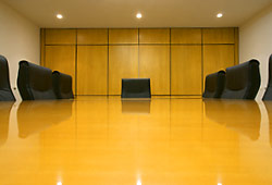 a photograph of a boardroom